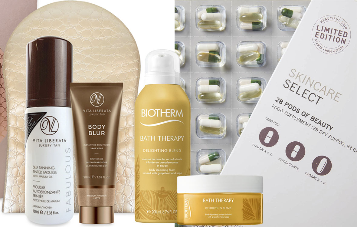 Vita Liberata Fabulous Mousse -lahjapakkaus, Biotherm Bath Therapy Delighting, Advanced Nutrition.