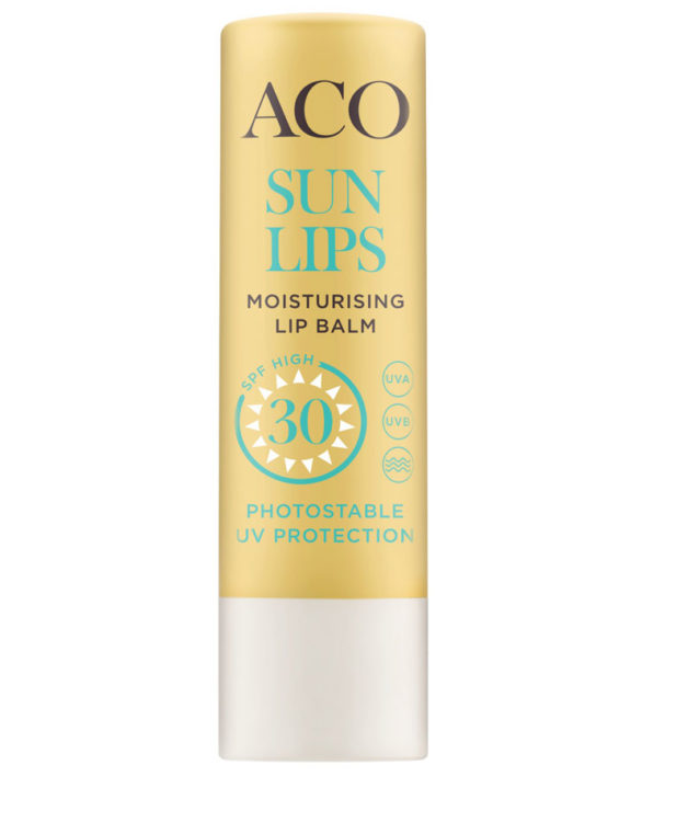 Aco Sun Lips Moisturising lip balm, SPF 30, Photostable UV Protection